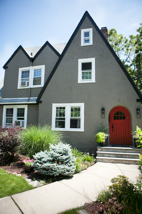 Recent projects file close to home three larchmont new - Tudor revival exterior paint colors ...