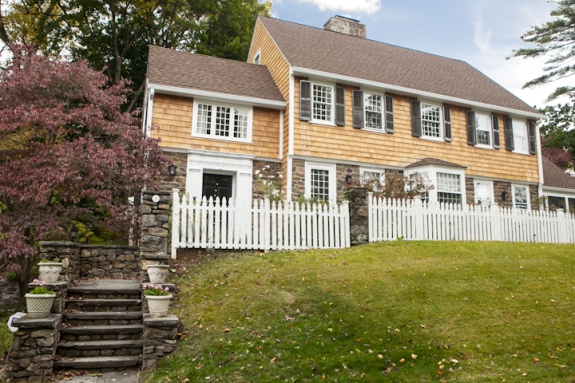 Another View: Natural Cedar Shake Colonial Exterior in Westchester County, New York