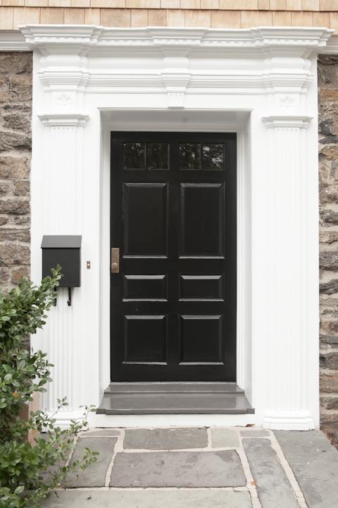 Glossy Black Front Door.