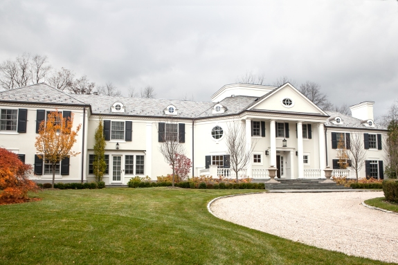 Scarsdale Stucco Colonial, Long View.