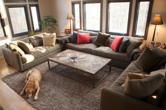Family (and Dog) Room: A Place to Relax.