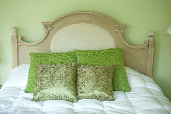 Green Guest. Room for a little bit of whimsy--