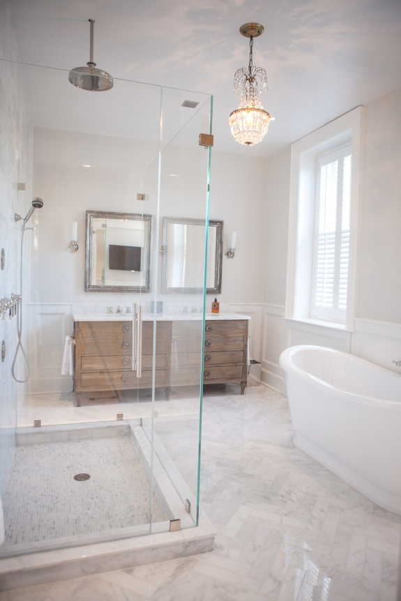 Master Bath extends the feeling of openness, and then some.