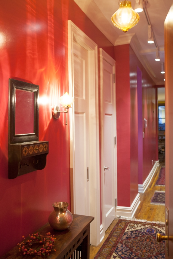 Glossy Red Paint sets expectations as we enter.
